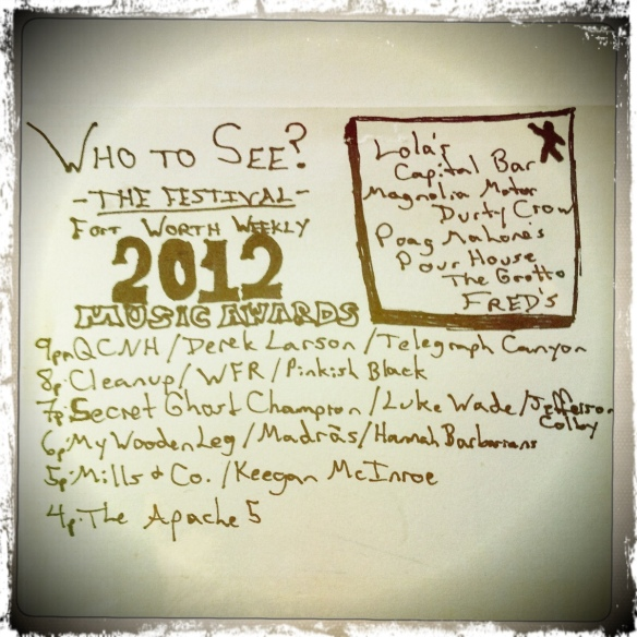 Fort Worth Weekly Music Awards 2012 // Hand Drawn Records