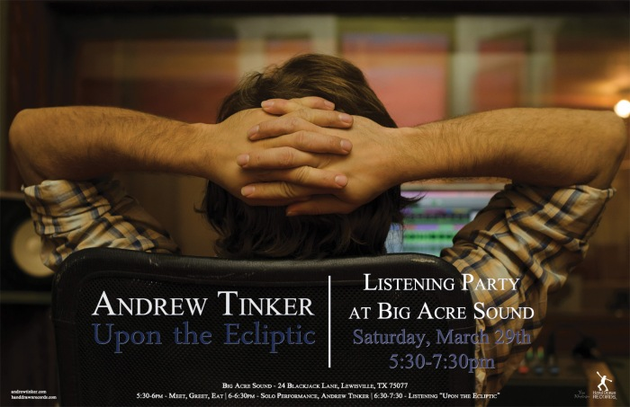 "LISTENING PARTY AT BIG ACRE SOUND: ""Upon the Ecliptic"" by Andrew Tinker"